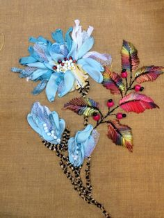 ♒ Enchanting Embroidery ♒ ribbon embroidered flowers