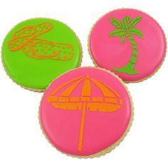 Culinary Stencils - Beach Themed Cookie Stencil, Set of 3