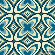 Retro Wallpaper Abstract Seamless Pattern Poster • Pixers® • We live to change