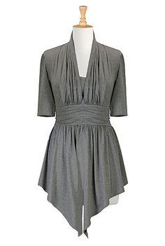 $60 - eShakti - Pleated cotton knit tunic - out of stock