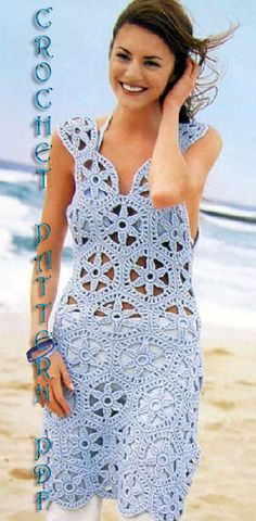 Items similar to Crochet Pattern instruction for Girls and Woman Dress- Tunic, Cover up Pattern INSTRUCTION only, PDF Files on Etsy