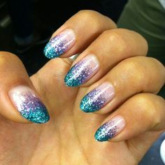 Ombr girly glitter pink purple calgel nails nails pinterest find this pin and more on nail art prinsesfo Gallery