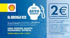 Buoni benzina in regalo con Il Secolo XIX fino al 5 Dicembre