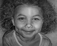 Look closely, incredibly detailed pencil and charcoal drawings... Mia by Kelvin Okafor, via Flickr
