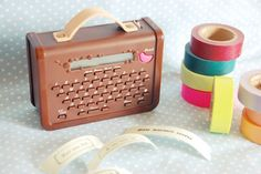 washi tape printer!  #washi #printer Available from http://www.kingjim.co.jp/sp/coharu/index.html