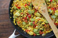 corn and lima bean succotash, meatless monday, vegetarian, lunch, lima bean, corn, ragout