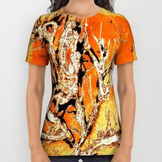 FRAZZLED Dragons 1   All Over Print Unisex T-Shirt  by JUST3Js