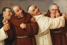 Claudio Rinaldi - Four Monks. Rinaldi was an Italian painter born in Urbania. He exhibited in Turin and Florence as of (Dorotheum, Munich) Italian Painters, Italian Artist, History Encyclopedia, Vampire Books, Historical Romance, Turin, Large Art, Ancient History, Middle Ages