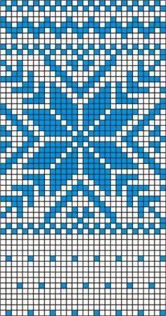Knitting Charts, Baby Knitting Patterns, Knitting Stitches, Weaving Patterns, Hama Beads Patterns, Knitted Christmas Decorations, Cross Stitch Christmas Stockings, Fair Isle Pattern, Mittens Pattern