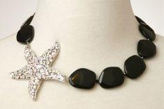 Starfish Necklace Black