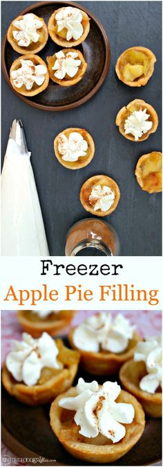 Freezer Apple Pie filling ready to bake one delicious pie or make mini pies! The Foodie Affair