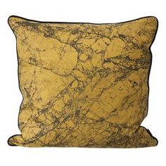 The stylish Marble cushion in the color curry from Ferm Living has a trendy design with a marble pattern that is handmade. The cushion is made of the finest silk which gives it a nice luster and soft surface, match the cushion with other fine textile products from Ferm Living to get a more unitary look in the room.