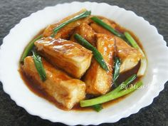 Teriyaki tofu. 醬燒豆腐