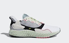 brand new 69261 53788 Adidas ZX4000 4D White  Grey  Green Green And Grey