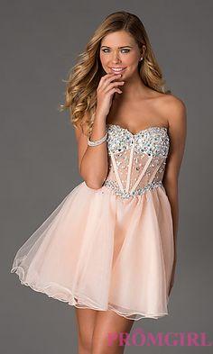 Short Masquerade Strapless Cobalt Blue Party Dress - Shops- Prom ...