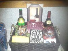 Classy Wine Basket!