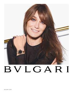 Carla Bruni shot by Mario Sorrenti Studio for Bulgari Spring/Summer 2015.