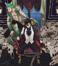 Neko Zoro and Faun? This could make a cool fanfiction if we could squeeze Luffy in there somehow! One Piece Pictures, One Piece Images, One Piece Fanart, One Piece Anime, Roronoa Zoro, Best Crossover, 0ne Piece, Trafalgar Law, Anime Merchandise