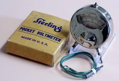 Vintage Sterling No. 31A Hearing Aid Tester Voltmeter.