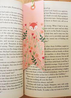 FREE printable Woodland Fox Bookmark