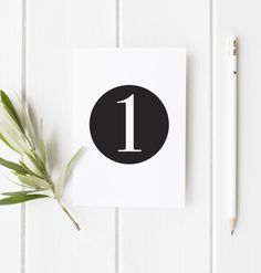 FREE DIY Black and White Wedding Table Numbers by www.doodlelovedesigns.co.uk