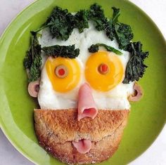 Fun and Healthy Breakfast Made by Kids. Feed your Dad with funny, healthy, silly and creative breakfast and make him laugh on Father's Day.