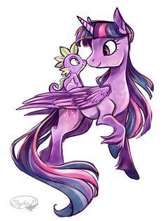 Twilight and Spike