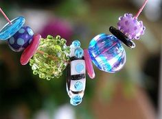 The Glass Beadle: lamp work beads by Cassie Donlen