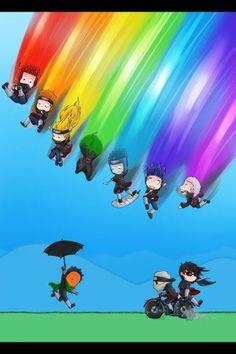 Akatsuki rainbow...plus Tobi, Kakuzu, and Itachi.