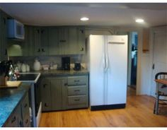 Painted Knotty Pine Cabinets
