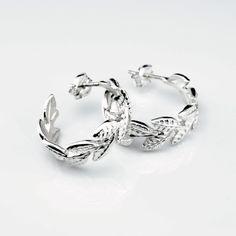 Wreaths - Silver Hoops #wreath #hoops #earrings #silver