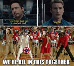 U crazy Avengers fandom>> Oh, we know, but at least we're not the Sherlock fandom<<<<<then you don't know what you're missing out on<<< ever met the Harry Potter or Percy Jackson fandom. But yes avengers fandom is nuts Avengers Humor, Marvel Jokes, Marvel Comics, Funny Marvel Memes, Avengers Age, Dc Memes, Marvel Dc, Loki Meme, The Avengers Assemble