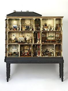 Miss Miles' House (Dolls' house) | V Search the Collections.(jt- discovered source of 'Victorian Nursery' pinned earlier. You can see it top left but someone has moved the toys around! Click through for close up of all the wonderful rooms)