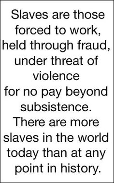 Modern Day Slavery Service (Jupiter in Taurus in the 6th house of service & health)