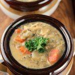 http://www.julieseatsandtreats.com/2012/02/cheesy-wild-rice-soup/