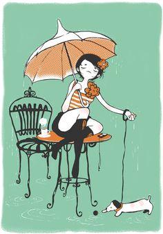 sous la pluie by Ludovic Jacqz