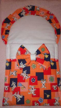 Matajka / Zavinovačka pre bábiku - oranžová so psíkmi