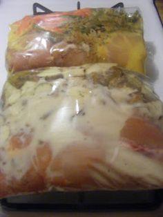 Ranch Chicken & Italian Chicken Freezer Crockpot meals - One Horse Thrift