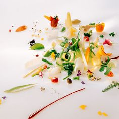 Michel Bras's Gargouillou - a combination of up to 60 varieties of vegetables, flowers and seeds