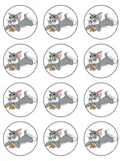 Kookies and Kreme | Tom and Jerry Cupcake Toppers