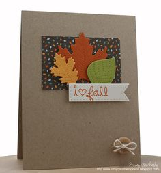 CAS beautiful fall card by Tracey
