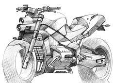 Adityaraj Dev's renderings of motorcycle's