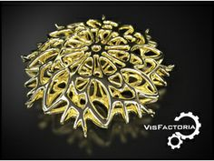 3d printed metal design by mkermol on shapeways