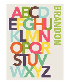 Another great find on #zulily! Alphabet Personalized Print by Madison Modern #zulilyfinds