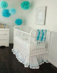 Cute, easy & cheap baby room decor that can grow with the kiddo or just be repurposed.