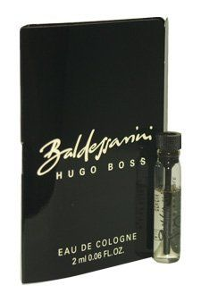 Baldessarini Hugo Boss 2 ml EDC Splash Vial (Mini) For Men by Hugo Boss. $3.92. 2 ml - Mini. EDC Splash Vial (Mini). Ships same day.. International Shipping Available. Baldesssarini is a fresh distinctive blend of mint, patchouli flower, sandalwood, tobacco and musk.. This perfume has a blend of mint pine wood and tobacco.. Save 51% Off!