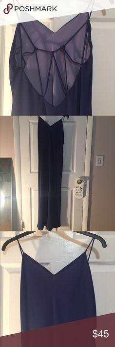 BLUE MAXI DRESS WITH CUTOUT BACK BLUE MAXI DRESS WITH CUTOUT BACK Niki Lavis Dresses Maxi