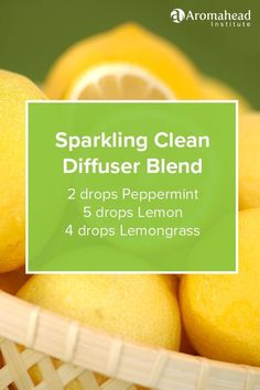 Sparkling Clean Diffuser Blend Recipe