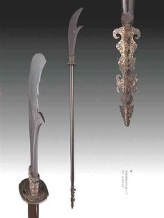 Ming dynasty Guandao with three sided spear tip