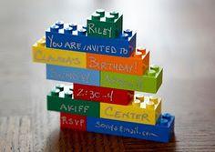 Lego party Invitation!  WAY cute!